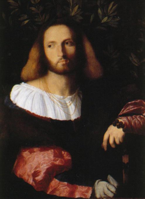 Palma il Vecchio, ritratto di poeta (Ariosto?), 1516, Londra, National Gallery