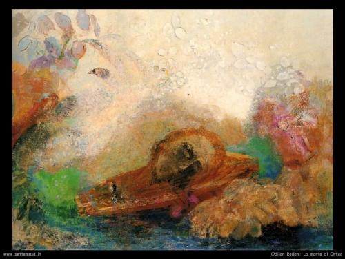 Odilon Redon, La morte di Orfeo