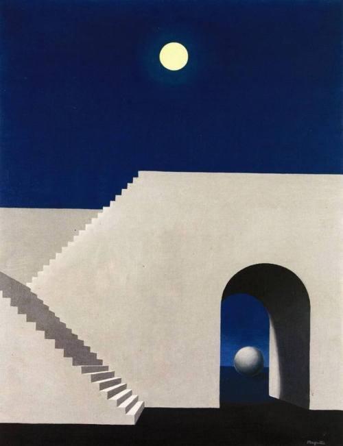 Magritte_Architettura al chiaro di luna_1956