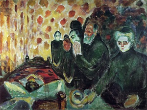 Edvard Munch_By the Deathbed