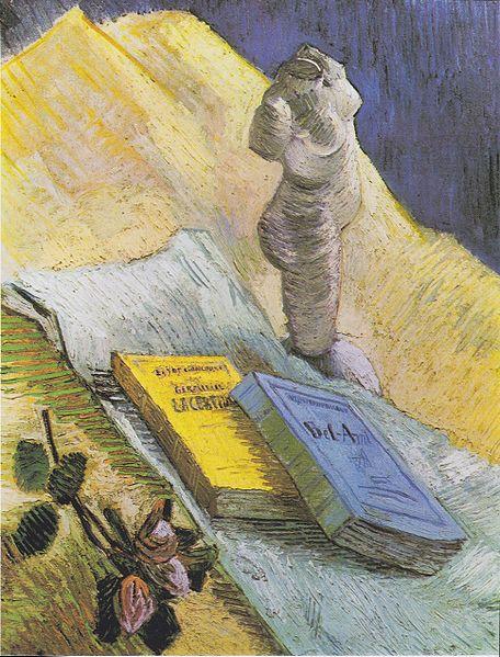 456px-Van_Gogh_-_Stillleben_mit_Gipstorso,_einer_Rose_und_zwei_Romanen