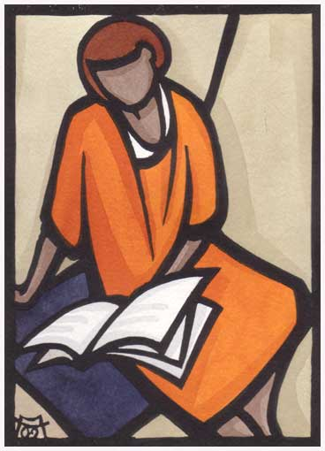 Lesende-Frau